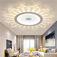 Yeni tavan ultra ince akrilik yaratıcı yuvarlak çocuk odası kolye lamba akıllı yaşam odası lambaları yaşayan LED Işıklar LED