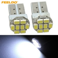 FEELDO 50PCS White Power T10 194 168 1206/3528 8SMD Wdege lateral del coche LED bombillas # 1059