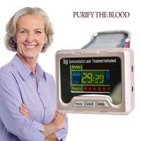 العلاج بالليزر الرئيسية نوع المعصم ليزر ساعة منخفضة التردد ارتفاع ضغط الدم وارتفاع الدهون في الدم الدم المرتفع علاج السكر مرض السكري