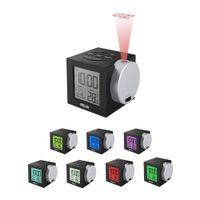 LCD 프로젝션 알람 시계 백라이트 전자 디지털 프로젝터 시계 책상 온도 디스플레이 7 색상