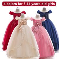 I vestiti da partito dei bambini di modo si vestono le ragazze dei fiori di Pasqua per le ragazze Vestito da cerimonia nuziale di estate Vestito da principessa della ragazza Adolescenti Abiti da sera