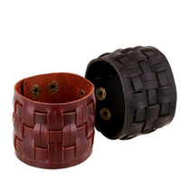 New Arrival Handmade Braided Leather Bracelet & Bangles 100%...