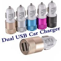 MARKA NOKOKO İyi Metal Çift USB Bağlantı Noktası Araç Şarj Evrensel akıllı telefon için 12 Volt / 1 ~ 2 Amp / Samsung Galaxy Droid Nokia HTC
