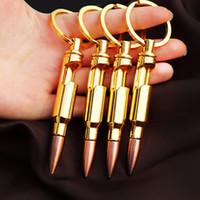 총알 병 뚜껑 오프너 아연 합금 열쇠 고리 펜던트 총알 모델의 성격 키 체인 바 가젯 금속 주방 도구 LJJA2565-14