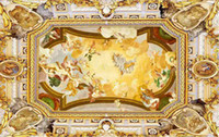 Personnalisé acheteur taille européenne luxe classique en trois dimensions toit du plafond art mural 3d papier peint 3d papiers peints pour toile de fond de télévision