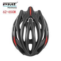 Casque de cyclisme PMT Road 2019 Grande taille 62-65cm Vélo Spécialisez des casques de vélo pour hommes MTB Mountain Bike Helm 26 trous 255G XL