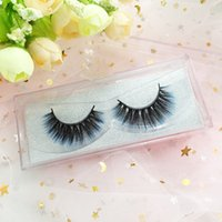 Color 3D Mink Lashes 100% Hand Made Real Mink Eyelashes Blue Red Colorful Natural Strip Eyelashes