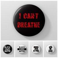 ICH KANN NICHT Schwarz Lives Matter Badge Prozession amerikanische Parade-Abzeichen I CAN NOT BREATHE Slogan Abzeichen George Floyd HHA1338 BREATHE