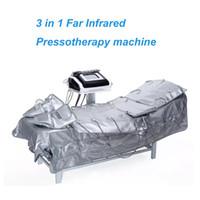 3 in1 pressoterapia a infrarossi lontani drenaggio linfatico pressione d'aria massaggio del corpo disintossicazione della pelle perdita di peso macchina spa salone