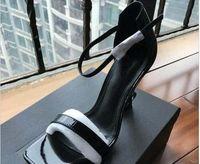 Top Quality 2019 Luxo Designer Estilo De Patente De Couro Emocionante Saltos Mulheres Unidas Letras Sandálias Vestido Sapatos De Casamento Sapatos Sexy