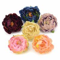 100 adet 5 cm Ucuz Yapay İpek Şakayık Çiçek Kafaları Düğün Ev Dekorasyon DIY Korsaj Çelenk Craft Güz Canlı Sahte Çiçekler