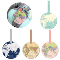 Творческого багаж Name Tag Global Map Силикон Чемодан ID Адрес Держатель Identifier Багажных интернаты Метка Портативное Путешествие Аксессуары