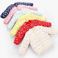Neue warme Baby Winter Mäntel Daunenjacke Baumwolljacke Kinder Baby Kleidung mit Kapuze Säuglings Daunen Puffer Jacken Jungen Mädchen Overall