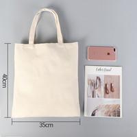 DIY Publicidad Sublimación Bolsa de lona ecológica Compras en blanco Bolso de mano Bolsa de algodón para mujer Impresión de transferencia de calor Tamaño personalizado A07