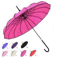 일반 컬러 파고다 우산 16 스트레이트 뼈 바 수동 긴 우산 선물로 다른 색상으로 사랑스러운 24LL J1