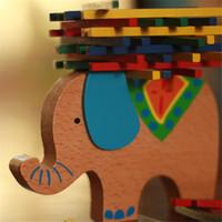 Eğitim Fil / Deve Dengeleme Blokları Kayın Ahşap Denge Oyunu Montessori Blokları Hediye Bebek Oyuncakları Ahşap Oyuncaklar Yaratık Blok