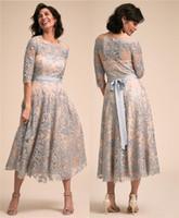 2019 우아한 짧은 레이스 신부 드레스의 어머니 플러스 크기 지퍼 A 라인 어머니의 드레스 정장 이브닝 드레스 사용자 정의