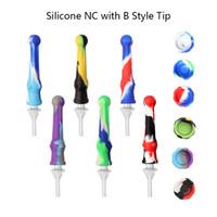 DHL libera !! Silicone Nectar Collector Kit Silicon Mini NC con tubi in silicone punta 14mm al quarzo per il fumo Bong