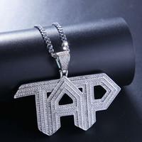 Высокое качество Цвет Серебро Цвет Top CZ TAP ожерелье Nice подарок для друга Punk Ювелирный подарок