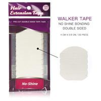 10 * 12 stks / partij Wit No Shine Hair Extension Tape Adhesive Bonding Dubbelzijdige Tape Waterdicht voor Haarverlenging / Kant Pruik / Toupe