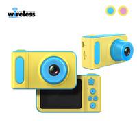 كاميرا رقمية صغيرة الأطفال 2 بوصة الكرتون كاميرا لطيف لعب الأطفال هدية عيد ميلاد طفل 720P لعب كاميرا