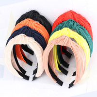 Bohemian Folding Knot Hairband Ladies Ethnic Bright Color Kn...