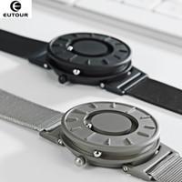 2018 New Style Assista Homens EUTOUR Magnetic Bola Mostrar Inovar relógios de pulso Mens Nylon Strap relógio de quartzo Moda erkek kol saati V191116