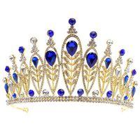 Haut de gamme mariage couronne européenne et américaine chaude laisse incrusté strass alliage mariée bandeau princesse anniversaire couronne livraison gratuite
