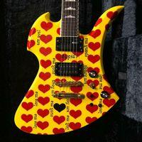 Китай сделали горячую желтую модельную модель электрической гитары 24 лада