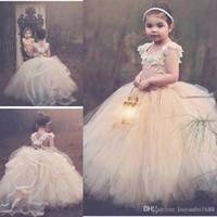 Blumenmädchen Kleider Tee Länge Bogen Back Billig Birthday Pageant Kleid Kleider für Kinder Formale Kleider Kleider anpassen