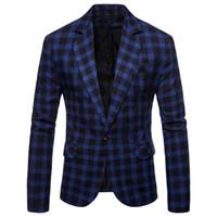 2018 Autunno nuovo vestito casuale plaid blazer vestito degli uomini vestiti da uomo giacca mens abiti uomo Blazers fiore
