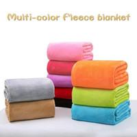 100 * 150 cm Cobertores de Lã de Flanela Morna Cobertores Macios Sólidos Colcha Sólida Inverno De Verão Manta de Lance para Cama Sofá DH0426