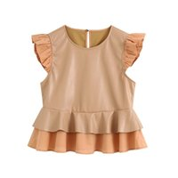 2020 summer women' s new round neck sleeveless laminated...