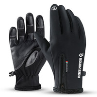 New Full Diccer Zipper Winter Cycling Skiing Unisex antivento Touch Screen Gloves Guanti peluche Moto ciclismo Guanti tattici Guanti tattici