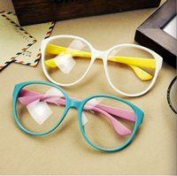 Simple And Beauty Lady Decorative Glasses Big Simplicity Fra...