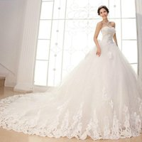 Hot Sale Newest 2019 White luxury Ball Gown Wedding Dresses ...