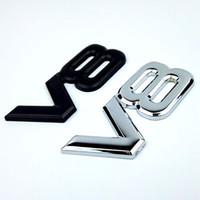 Car V8 Métal 3D autocollant Lettre d'insigne d'emblème Durites Argent Auto Car Styling pour Toyota