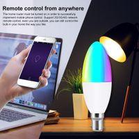 LED واي فاي الذكية لمبة ضوء شمعة أضواء لمبات عكس الضوء B22 E14 E26 E27 APP التحكم عن بعد متوافق مع اليكسا صفحة Google الرئيسية