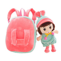 Korean Cartoon Kids Plush Backpacks with toys Brand Toddler ...