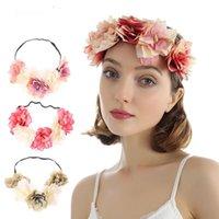 Frauen Blume Crown Artificial Boho Blumenstirnband-Haar-Zusätze Garland Braut Hochzeit Haarband-Qualitäts-Kopfband