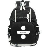قم بتقسيم حقيبة ظهر إد شيران اليوم شكل حقيبة مدرسية الموسيقى packsack حقيبة ظهر الكمبيوتر الرياضة المدرسية daypack day