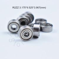 R2ZZ 3.175 * 9.525 * 3.967 (mm)은 크롬 베어링 강 금속 밀봉 베어링 밀봉 무료 배송 베어링 ABEC -5- R2 R2Z 금속 10pieces