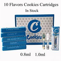Cookies Carts Glass Thick Oil Vape Cartridges 0. 8ml 1ml Cera...