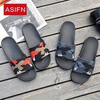 ASIFN Herrenschuhe Flip Flops Camo Gelegenheits Slides Herren Schuhe Anti-Rutsch-Strand-Sommer-Sandalen männliche 4 Farben Schuhe Hombre