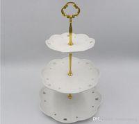 1/2 / 3Tier in acciaio inox tondo Cupcake stand di nozze Torta di compleanno banco di mostra Strumenti Torre per cucina (piatti non sono inlcuded)