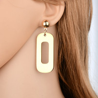 새로운 금속 기하학적 섹시 나이트 클럽 펑크 스타일 귀걸이에 대한 여성 문 보석 E150 과장된