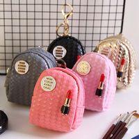 Mode Femmes Mini Rouge à lèvres Sac Coin multifonctions Petit bourse de portefeuille Sac à main Porte-clés Porte-clés Hot New 5 couleurs