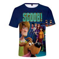 Nuevo 2020 Scoob! Protagonista de la película Scooby-Doo 3D Camiseta estampada para adultos / niños Hombres / mujeres ocasionales camisa manga corta ropa divertidos de la camiseta