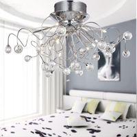 11- 빛 현대적인 LED 럭셔리 크리스탈 샹들리에 거실 램프 lustres 드 크리스털 실내 조명 크리스탈 펜 던 트 샹들리에