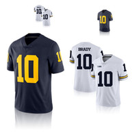 aac1a18b582 Wholesale michigan wolverines football jerseys for sale - Group buy 10 Tom  Brady College Jersey NCAA